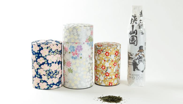 MAGOKORO铭茶 狭山园  按分量计价的茶叶和和纸制茶叶罐
